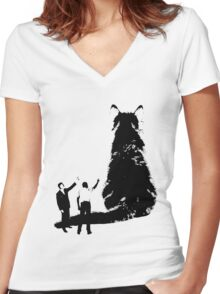 Look at That Cat Women's Fitted V-Neck T-Shirt