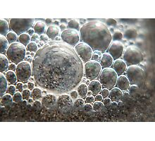 Macro beach bubbles, photography Photographic Print