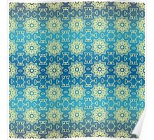 Lace on Blue Poster