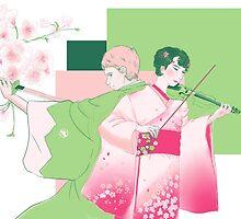 Geisha fem!lock and samurai John Watson by Giang