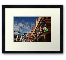 Colours of Luna Park, Sydney Framed Print