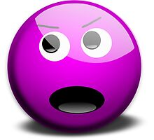 Shouting Purple Smiley Face by NetoboDesigns