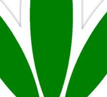 hemp symbol green Sticker