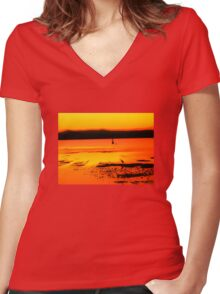 Natural Abstraction 1 Women's Fitted V-Neck T-Shirt