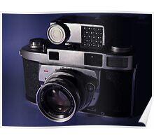 Vintage 1950's 35mm Film Camera Poster