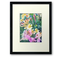 Welcome Spring Abstract Floral Digital Watercolor Painting 4 Framed Print