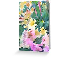 Welcome Spring Abstract Floral Digital Watercolor Painting 4 Greeting Card