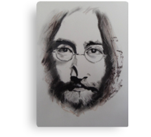 John Lennon in Charcoals Canvas Print