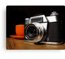 Vintage SLR and Coffee Canvas Print
