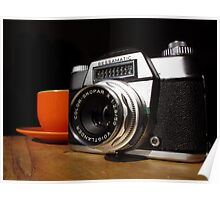 Vintage SLR and Coffee Poster