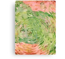 Welcome Spring Abstract Floral Digital Watercolor Painting 1 Canvas Print