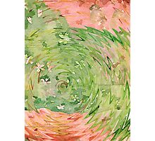 Welcome Spring Abstract Floral Digital Watercolor Painting 1 Photographic Print