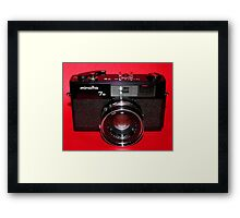 Black Rangefinder Camera Framed Print