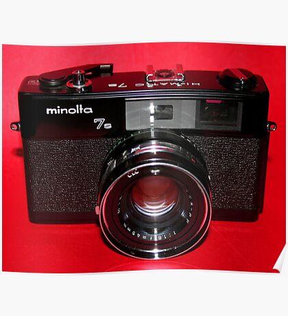 Black Rangefinder Camera Poster