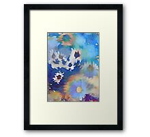 Welcome Spring Abstract Floral Digital Watercolor Painting 2 Framed Print