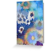 Welcome Spring Abstract Floral Digital Watercolor Painting 2 Greeting Card