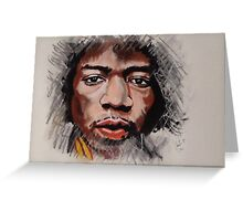 Jimmy Hendrix - Musician in Pastels Greeting Card