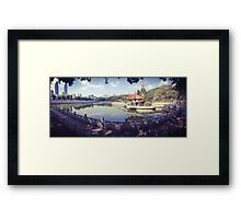 A Fine Day in Asia Framed Print