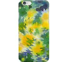 Welcome Spring Abstract Floral Digital Watercolor Painting 3 iPhone Case/Skin