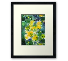 Welcome Spring Abstract Floral Digital Watercolor Painting 3 Framed Print