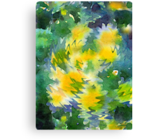 Welcome Spring Abstract Floral Digital Watercolor Painting 3 Canvas Print