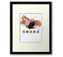 Spice and Wolf Framed Print