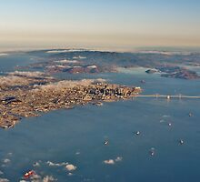 A Plane's Eye View of the San Francisco Bay and Beyond by Martha Sherman