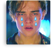 Leo Cryin' Emoji Tears Canvas Print