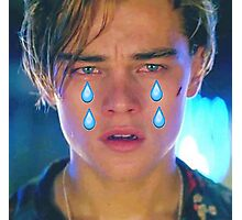 Leo Cryin' Emoji Tears Photographic Print