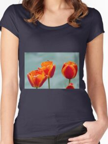 tulip in spring Women's Fitted Scoop T-Shirt
