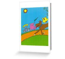 Splat 5 Greeting Card