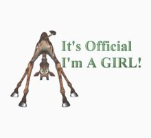 It's Official I'm A Girl! by Lisa  Weber