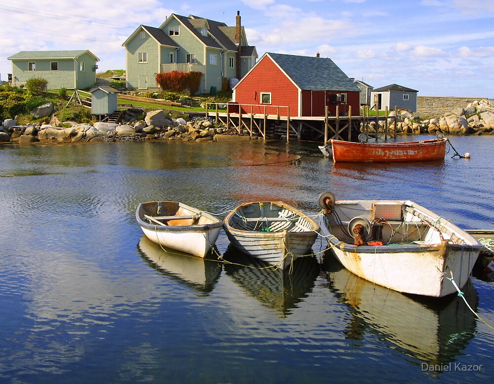 Boats on Peggy's Cove, Nova Scotia by Daniel Kazor