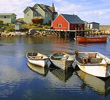 Boats on Peggy's Cove, Nova Scotia by Daniel Kazor