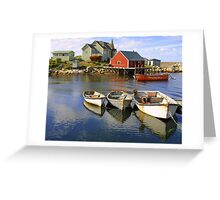 Boats on Peggy's Cove, Nova Scotia Greeting Card