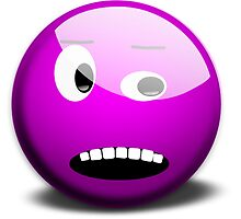 Shocked Purple Smiley Face by NetoboDesigns