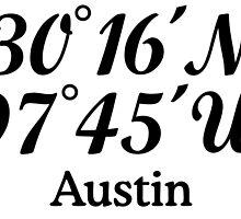 Austin Coordinates by theshirtshops