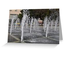 Water Spouts Playing  Greeting Card