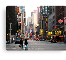 Time Square, almost empty Canvas Print