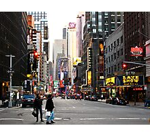 Time Square, almost empty Photographic Print