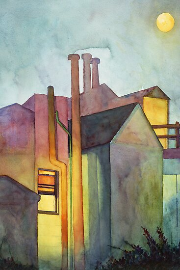 Rear Window Watercolor by Zehda