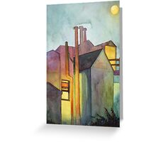 Rear Window Watercolor Greeting Card