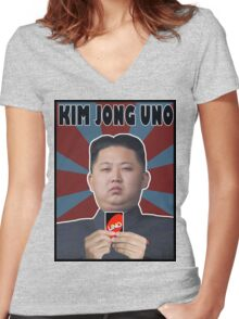 Kim Jong UNO Women's Fitted V-Neck T-Shirt