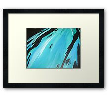 tri close up Framed Print