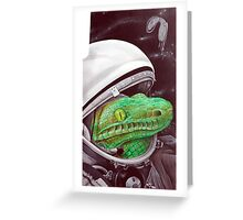 snake in the space Greeting Card