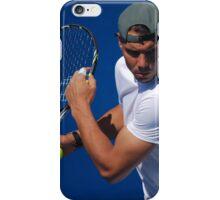 Rafael Nadal practicing at the Australian Open 2014 iPhone Case/Skin