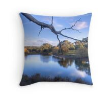 Overlooking the lake at Oakbank Throw Pillow