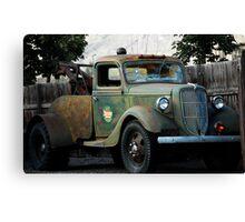 Last Chance Garage - Vintage Tow Truck Canvas Print