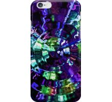 Round Blue Ripples Abstract iPhone Case/Skin