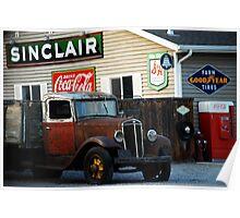 Sinclair Station - Vintage Truck Poster